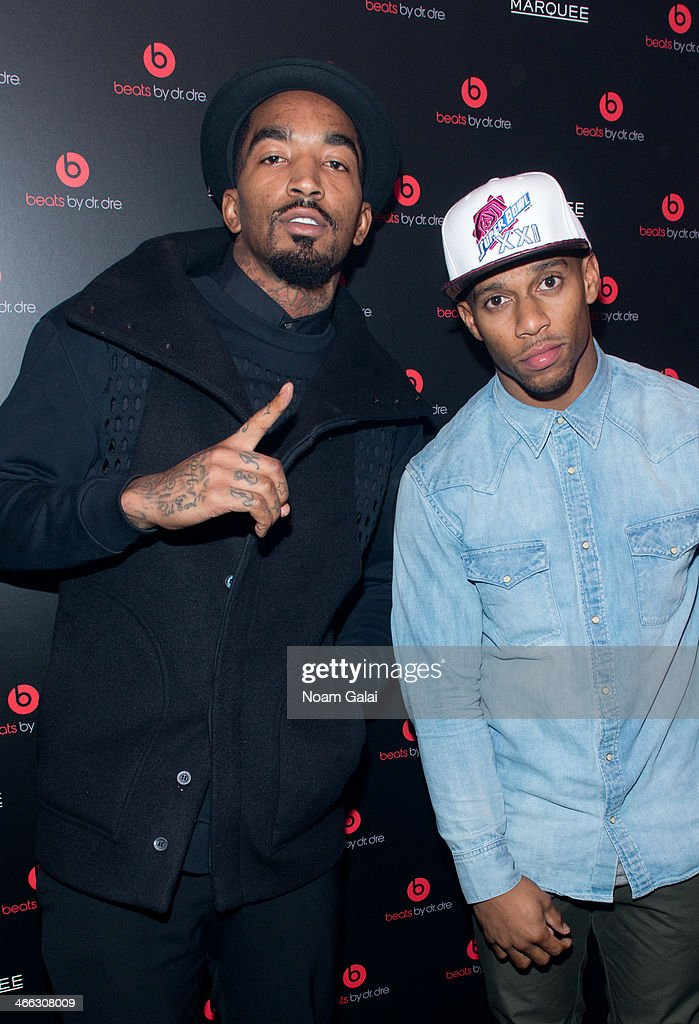 <a gi-track='captionPersonalityLinkClicked' href=/galleries/search?phrase=J.R.+Smith&family=editorial&specificpeople=201766 ng-click='$event.stopPropagation()'>J.R. Smith</a> and Victor Cruz attend Beats By Dr. Dre special event At Marquee New York on January 31, 2014 in New York City.