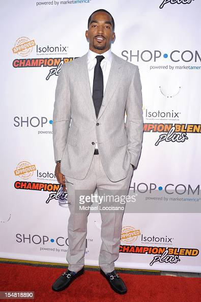 R Smith attends Carmelo Anthony SHOPCOM launch Isotonix Champion Blend Plus Supplements on October 26 2012 in New York City