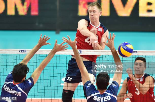 Smith David during the FIVB World League 2017 match between Iran and USA at Arena Spodek on June 15 2017 in Katowice Poland