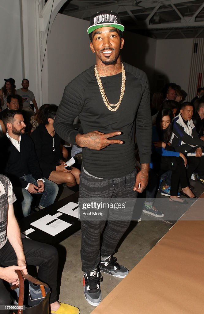 J.R. Smith of NY Knicks attends the attends the Robert Geller show during Spring 2014 Mercedes-Benz Fashion Week at Pier 59 Studios on September 7, 2013 in New York City.