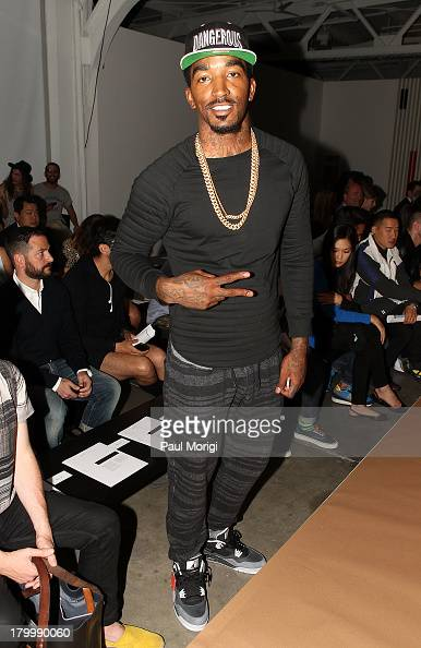 R Smith of NY Knicks attends the attends the Robert Geller show during Spring 2014 MercedesBenz Fashion Week at Pier 59 Studios on September 7 2013...