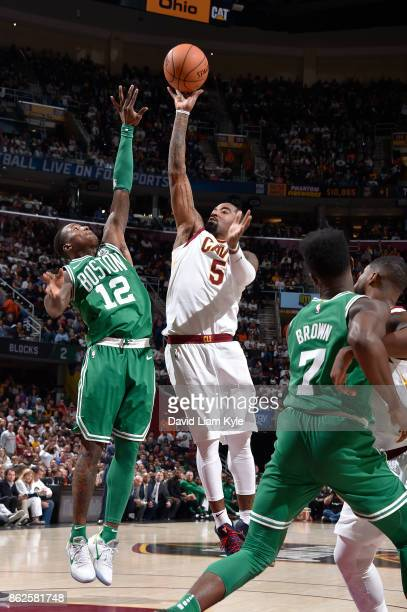 Smith of the Cleveland Cavaliers shoots the ball against the Boston Celtics on October 17 2017 at Quicken Loans Arena in Cleveland Ohio NOTE TO USER...