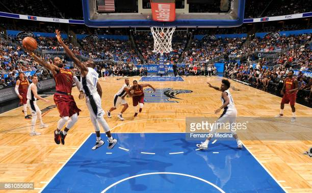 Smith of the Cleveland Cavaliers shoots the ball against the Orlando Magic during the preseason game on October 13 2017 at Amway Center in Orlando...