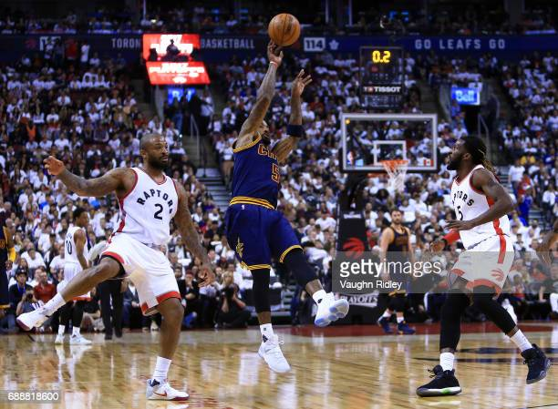 R Smith of the Cleveland Cavaliers shoots the ball in the first half of Game Four of the Eastern Conference Semifinals against the Toronto Raptors...