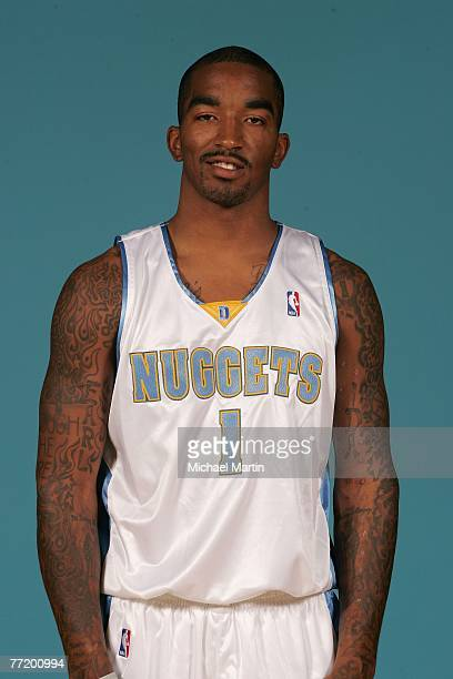 R Smith of the Denver Nuggets poses for a portrait during NBA Media Day at the Pepsi Center on October 1 2007 in Denver Colorado NOTE TO USER User...