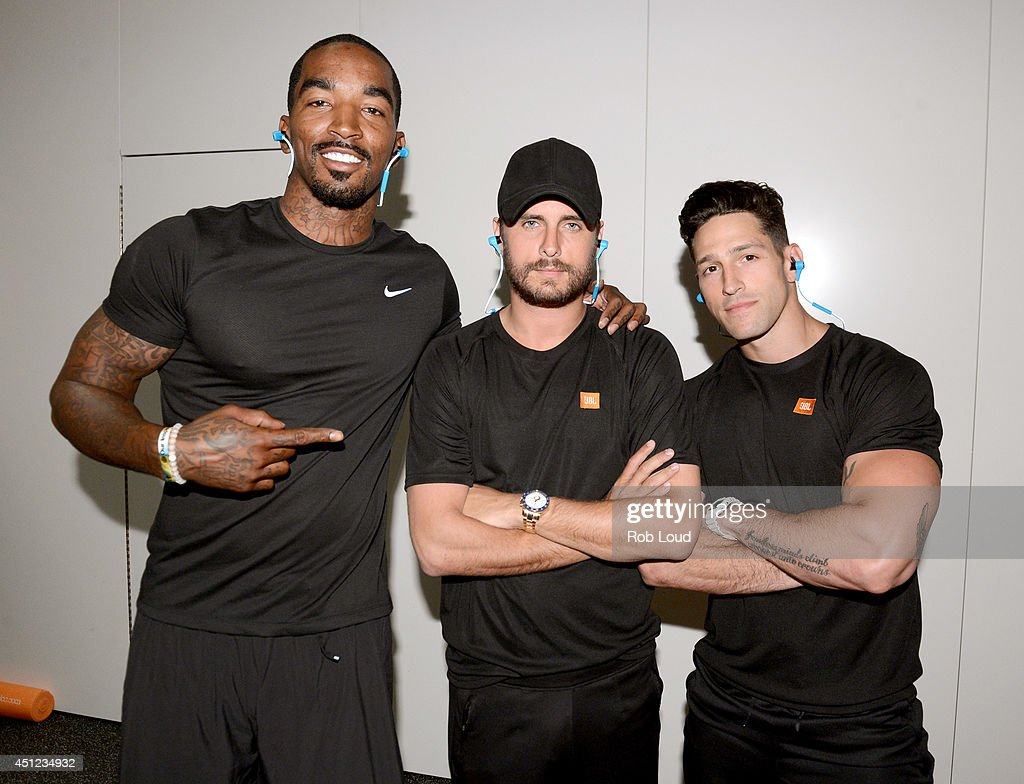 J R Smith Scott Disick and Noah Neiman attend JBL By HARMAN Presents 'Motion Sound And Light' Exhibition at CE Week along with Scott Disick Cassie...