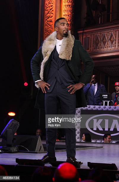 J R Smith walks the runway during the NBA AllStar AllStyle presented by Samsung Galaxy the firstever NBA fashion show executive produced by LeBron...