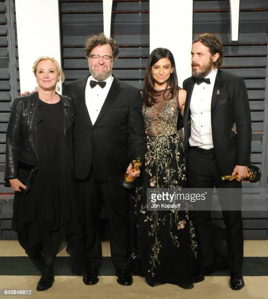 J SmithCameron writer Kenneth Lonergan Floriana Lima and actor Casey Affleck attend the 2017 Vanity Fair Oscar Party hosted by Graydon Carter at...