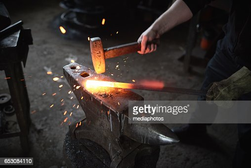 Smithing process : Stock-Foto