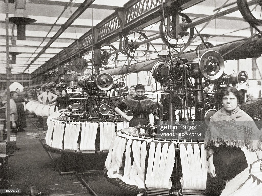 The results of the industrial revolution in the late 19th century