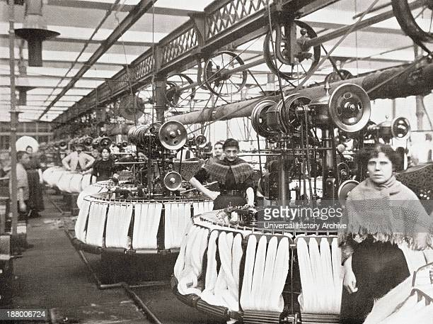 Smith's Woolcombing Works Bradford West Yorkshire England Workers In The Late 19Th Century From Picturesque History Of Yorkshire Published C1900