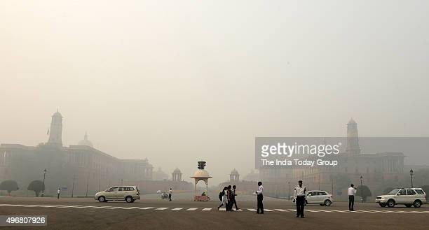 Smog engulfed several parts of Delhi after farmers in Haryana and Punjab continued to burn paddy stubble in their fields