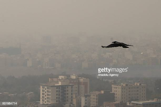 A smog soaked sky is seen over a general view of Irans capital city of Tehran as the air pollution in Tehran hits its worst levels in months on...
