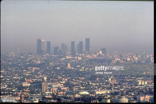 Smoggy LA skyline