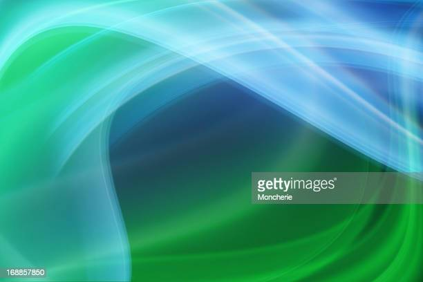 Smoke abstract in blue and green