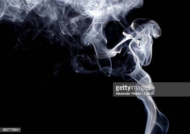 Smoke Against Black Background