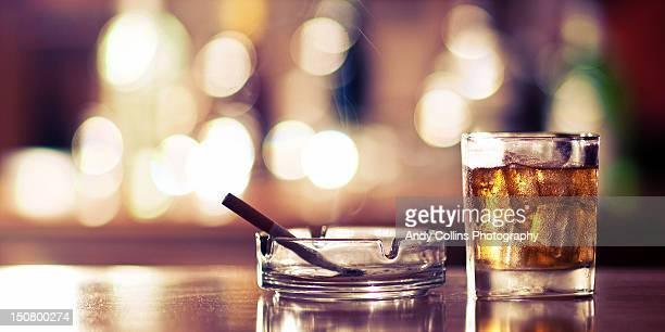Smoke and drink bokeh