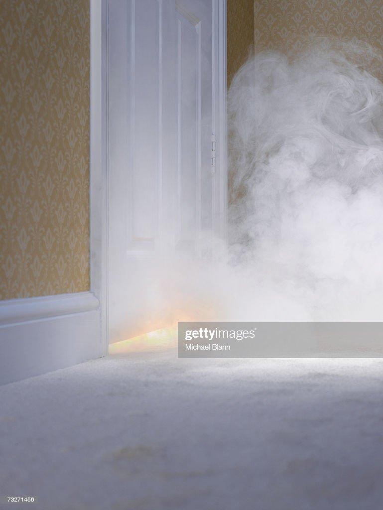 Smoke Under Door : Smoke coming in under door stock photo getty images