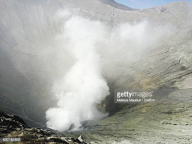 Smoke Coming Out Of Crater