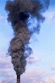 Smoke coming out of smokestack