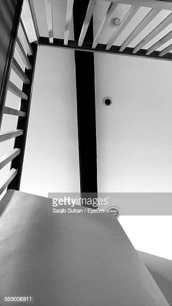 Smoke Detector Above Railing Of Staircase
