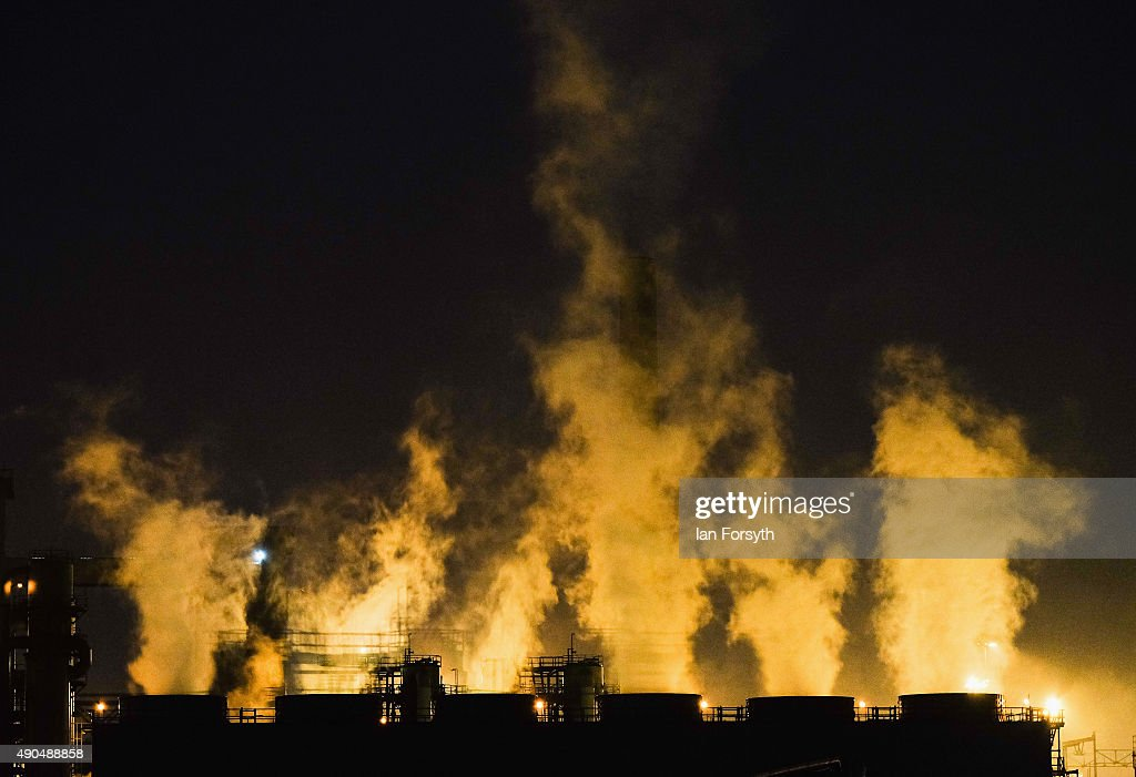 Smoke escapes from chimneys at the blast furnace at the SSI UK steel plant on September 29, 2015 in Redcar, England. Following the announcement that SSI UK are mothballing the plant and ceasing steel production 1700 jobs at the Teesside site have been lost.