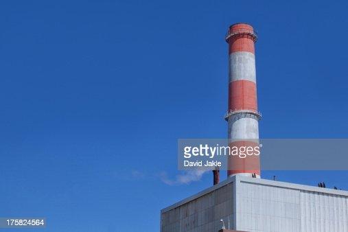 Smoke from refinery chimney, Port of Los Angeles, California, USA
