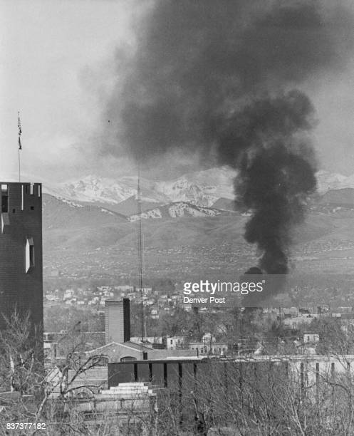 Smoke From SalvageYard Fire Rises Over City A fire in a salvage yard at W 11th Ave and Umatilla St shortly before 930 am Thursday sent up this black...