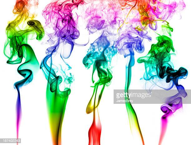 Smoke Induced Visions; Colorful Hallucinogenic Psychedelic Drug Art