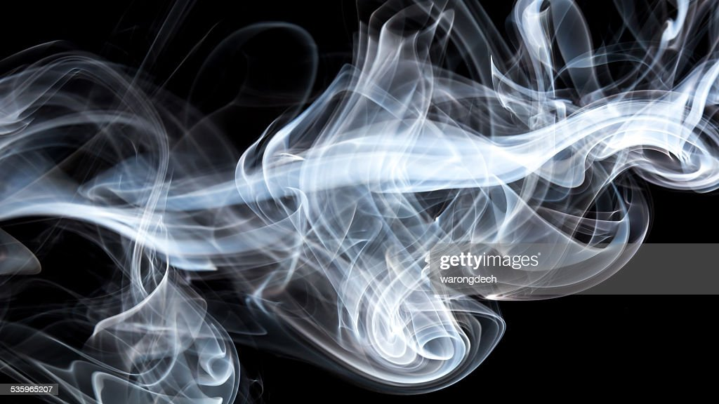 Smoke on black background : Stock Photo