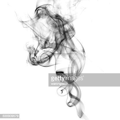 Fumo sobre fundo branco : Foto de stock