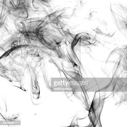 Smoke on white background : Stock Photo