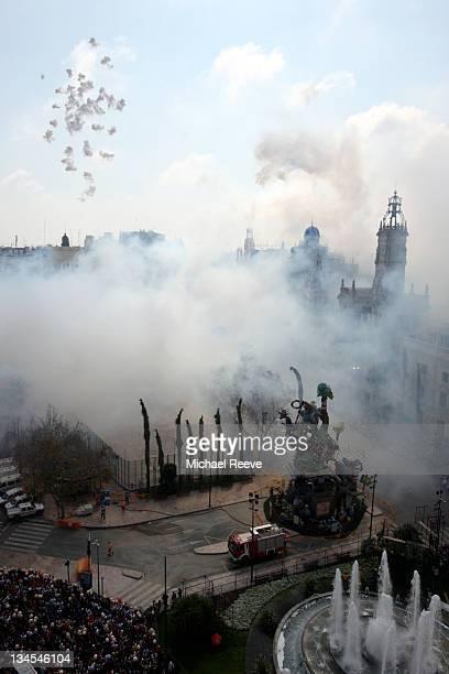 Smoke over city