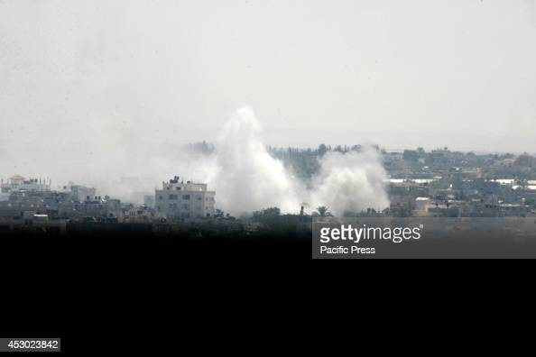 Smoke rises following what witnesses said were Israeli air strikes in Rafah in the southern Gaza Strip A Gaza ceasefire crumbled only hours after it...