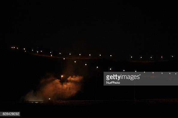 Smoke rising from a Palestinian car burnt by Israeli settlers near the city of Nablus The closure of the entrance to the city of Nablus after the...
