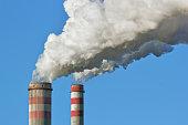 Smoke stack of coal power plant