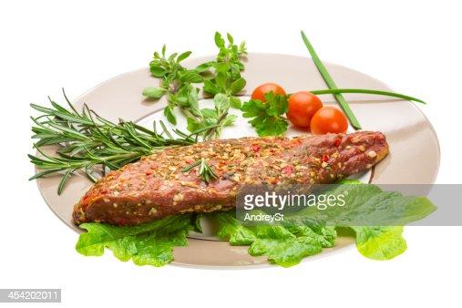Carne de res ahumado : Foto de stock