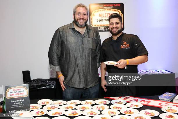 Smoked Cod Mousse prepared by Anthony Nassif during Broadway Tastes presented by Variety at Metropolitan West on October 15 2017 in New York City