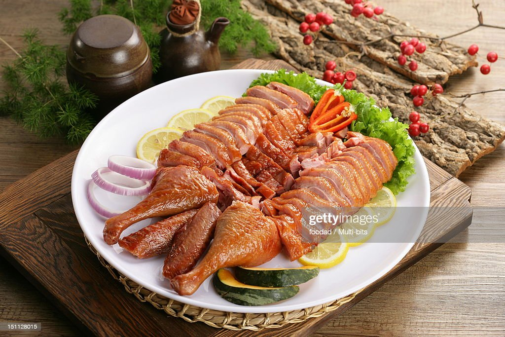 Smoked duck meat : Stock Photo