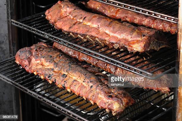 Geräuchertes Schweinefleisch Spareribs Barbecue