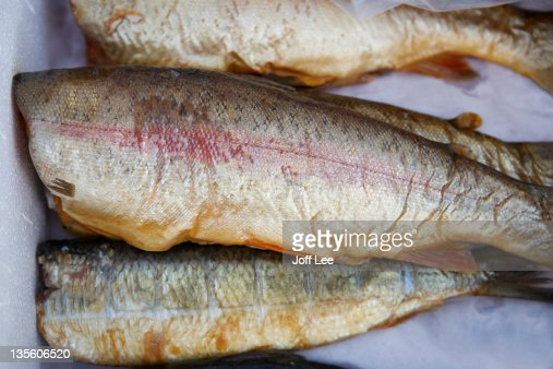Smoked rainbow trout : Stock Photo