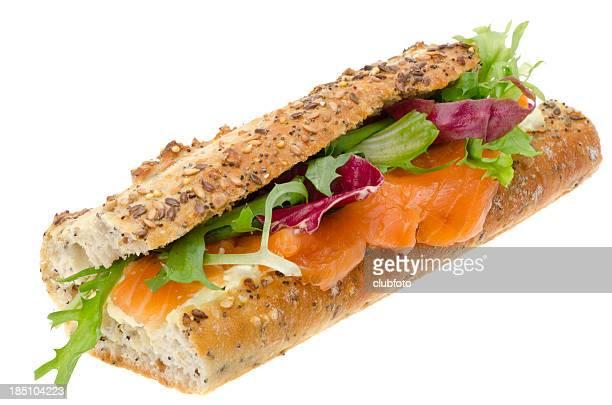 Saumon fumé et crème sandwich au fromage
