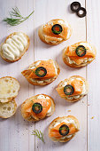 Smoked Salmon and Cream Cheese CanapésSmoked Salmon and Cream Cheese Canape