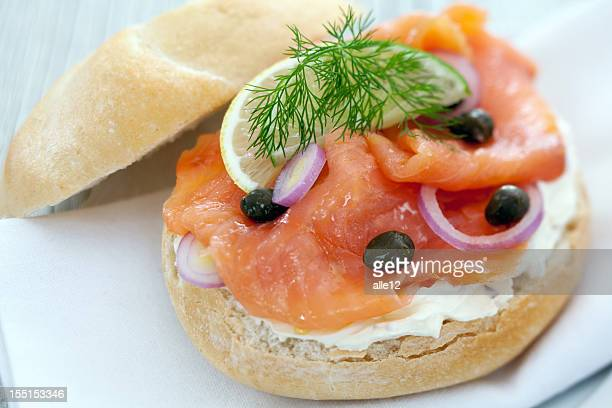 Smoked Salmon on a bagel