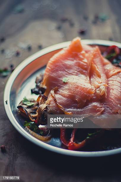 Smoked Salmon on Sauteed Vegetables