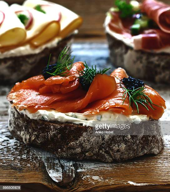 smoked salmon sandwich rf ripe soft cheese rf cheese and white wine rf ...