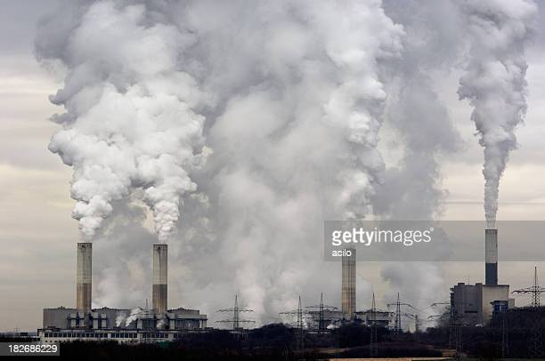 Smokestacks with pollution