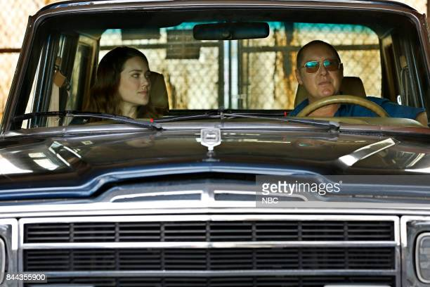 THE BLACKLIST 'Smokey Putnam ' Episode 501 Pictured Megan Boone as Elizabeth Keen James Spader as Raymond 'Red' Reddington