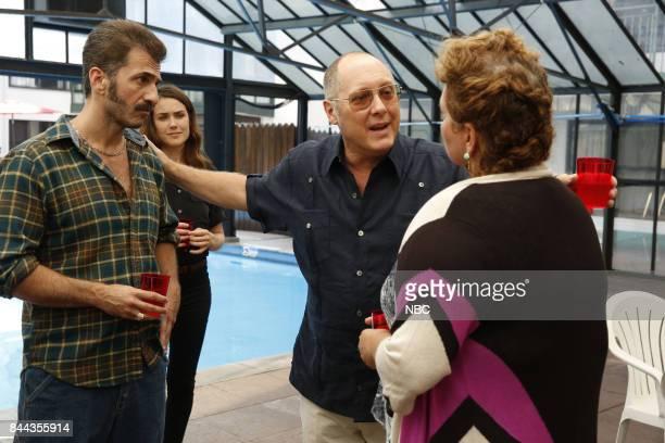 THE BLACKLIST 'Smokey Putnam ' Episode 501 Pictured Michael Aronov as Smokey Putnum Megan Boone as Elizabeth Keen James Spader as Raymon 'Red'...