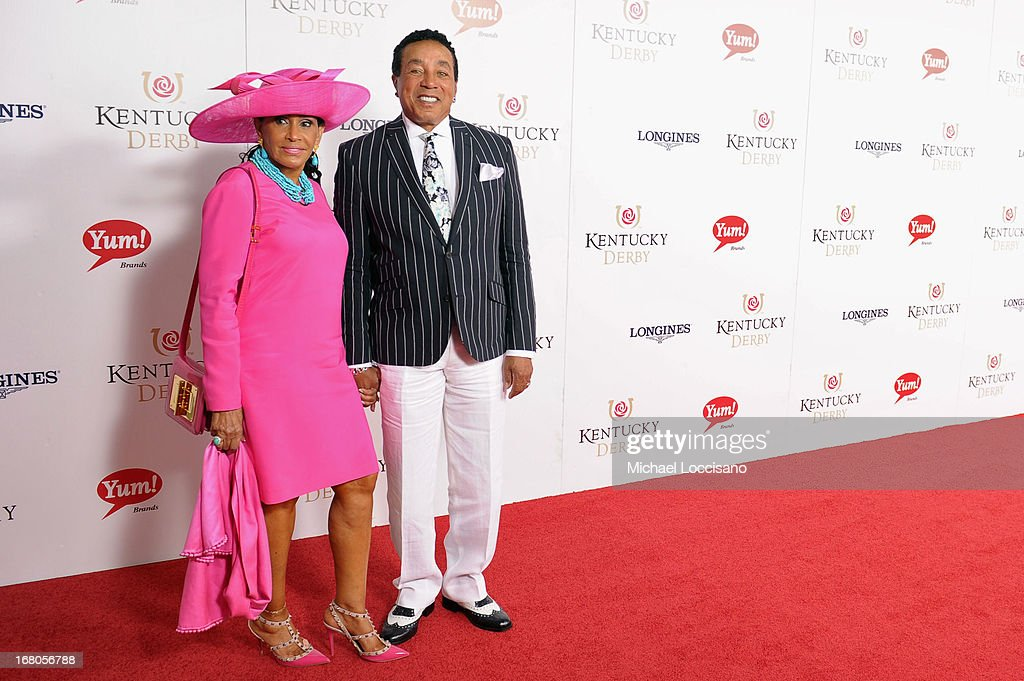 Smokey Robinson and Frances Robinson attend the 139th Kentucky Derby at Churchill Downs on May 4, 2013 in Louisville, Kentucky.